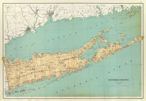 maps  long island  york