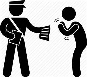 Begging, guard, police, policeman, summon icon