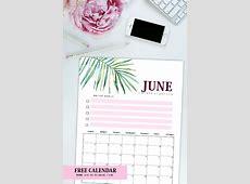 Free Printable June 2018 Calendar 12 Amazing Designs!