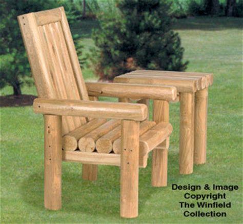 outdoor furniture plans rustic chair table wood