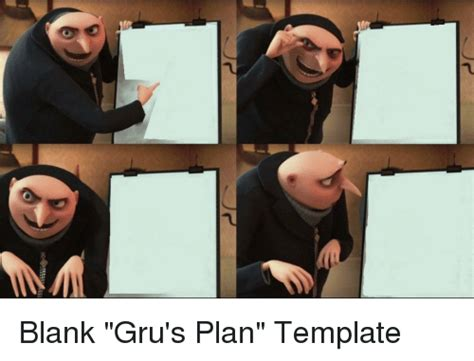 Gru Meme Template Blank And Blank Meme On Me Me