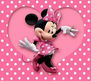 Free Mickey Mouse Templates Minnie Mouse Wallpaper Cartoon Disney Pink Polka Dots