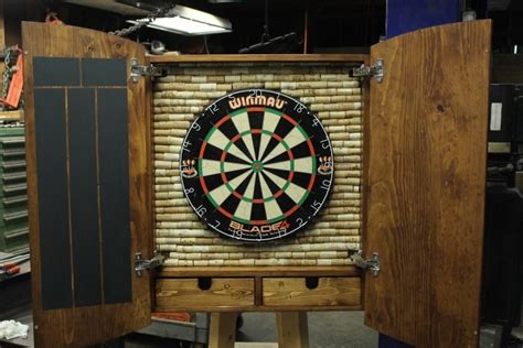 custom dart board cabinet  drawers