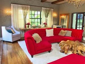 interieurs avec un canape arrondi un meuble pratique et With tapis rouge avec canapé grande profondeur