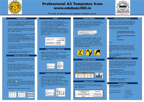 professional  templates  project poster