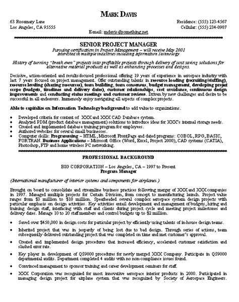 20800 project coordinator resume project manager resume exle project