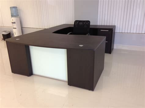 glass desk for sale chiarezza bow front with glass panel u shaped desk and