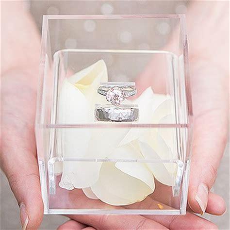 alternative wedding ring box unique alternative acrylic wedding ring box the knot shop