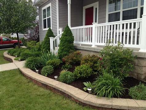 simple fresh  beautiful front yard landscaping
