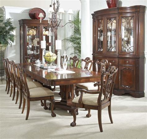 china cabinet and dining room set belfort signature westview 11 dining set with 9419