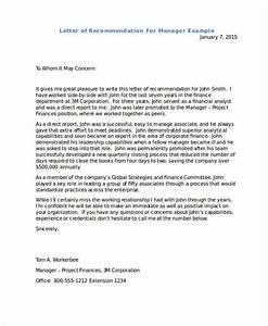 Sample Letter Of Recommendation For Director Position