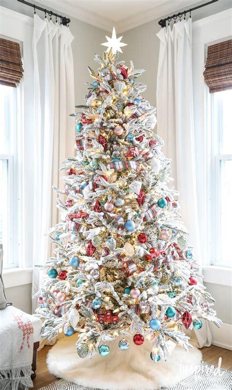 fun festive  flocked christmas tree
