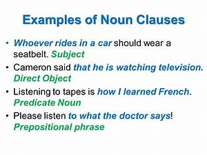 Types Of Noun Clauses  Grammar Bytes     The Clause  2019