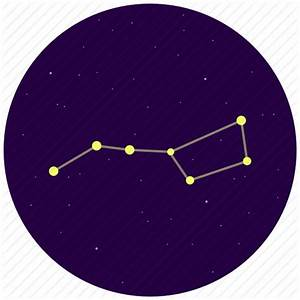 Big dipper, constellation, sky, stars, ursa major icon ...