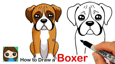 draw  boxer puppy dog easy youtube