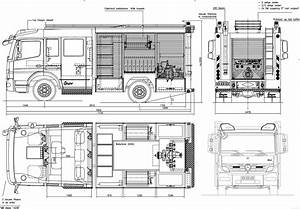 Mercedes-benz Atego Firetruck Blueprint