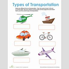 Forms Of Transportation  Transportation, Worksheets And Homeschool