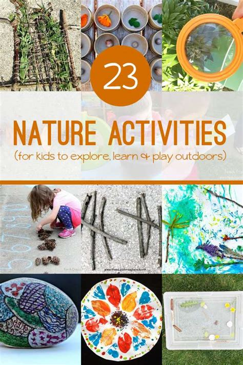 23 nature activities for to create explore amp learn 685 | nature activities2