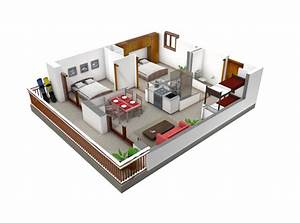 plan appartement 3 chambres With plan d appartement 3d