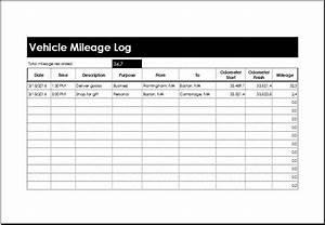 Car Mileage Spreadsheet Vehicle Mileage Log Templates Ms Excel Microsoft Word