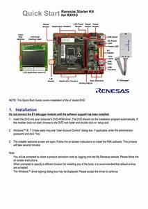 E2studio Renesas Starter Kit For Rx113 Quick Start Guide