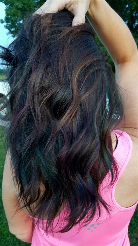 Oil Slick Hair Color Oilslickhair Beautyful Pinterest