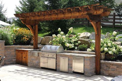 custom built outdoor kitchens grills burkholder landscape
