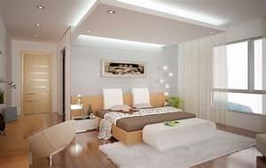 Schlafzimmer mit angenehmer beleuchtung durch die for Schlafzimmer beleuchtung