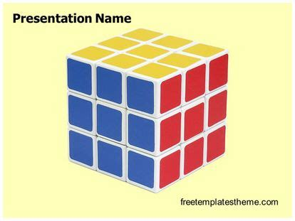 rubik cube powerpoint template freetemplatesthemecom