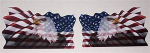 waving american flag with bald eagle decal full color pair With kitchen cabinets lowes with rebel flag sticker