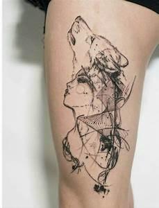 Tatouage Loup Geometrique : dessin loup tatouage femme kolorisse developpement ~ Melissatoandfro.com Idées de Décoration