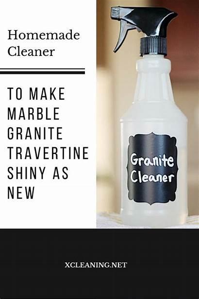 Cleaner Homemade Travertine Granite Marble Shiny Cleaning