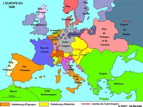 Carte Vierge De L Europe A Compléter by L Europe En 1648