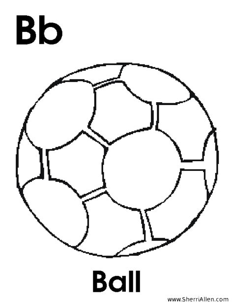 b is for ball coloring page eskayalitim