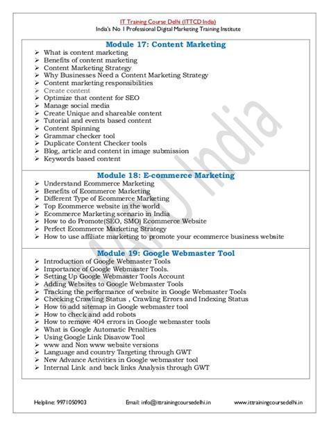 digital marketing strategy course advance certified digital marketing course pdf