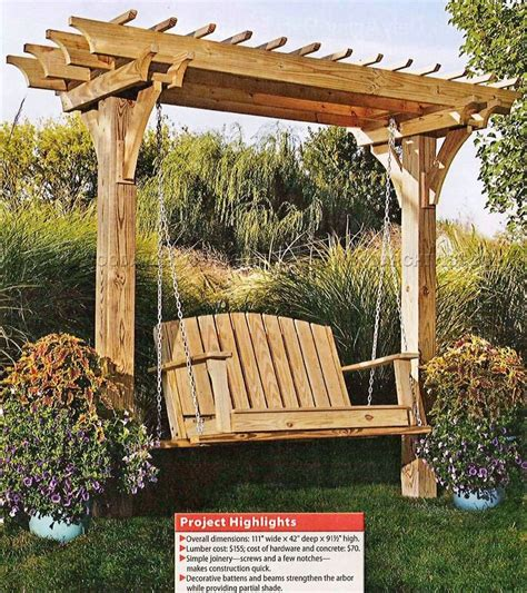 outdoor swing arbor plans image mag