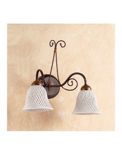applique in ceramica applique lada da parete a 2 con piatto in ceramica