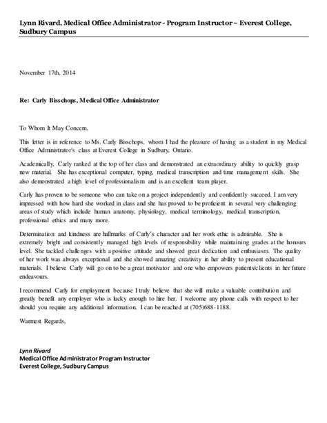Carly B - Reference Letter
