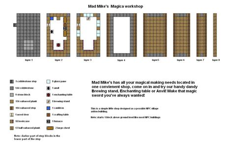 mad mikes magica shop minecraft floorplan  coltcoyotedeviantartcom  atdeviantart