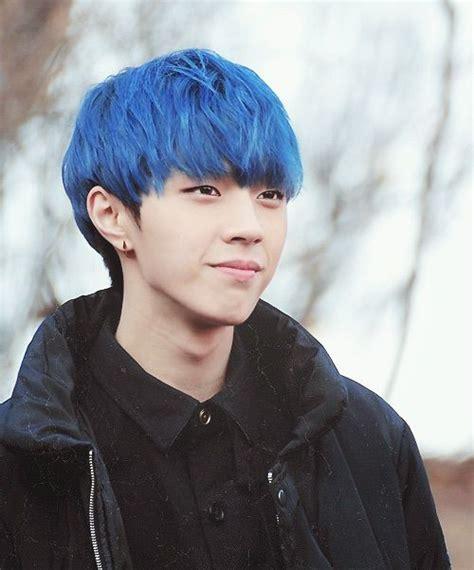 Blue Hair Name by Challenge Blue Hair Boys K Pop Amino