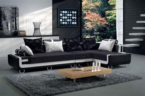 Cuscini X Divano Nero : Divano Soggiorno Dafne 350cm Angolare Bianco E Nero