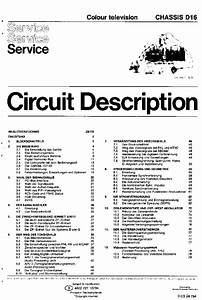 Philips Chassis D16 Color Tv Service Manual Download