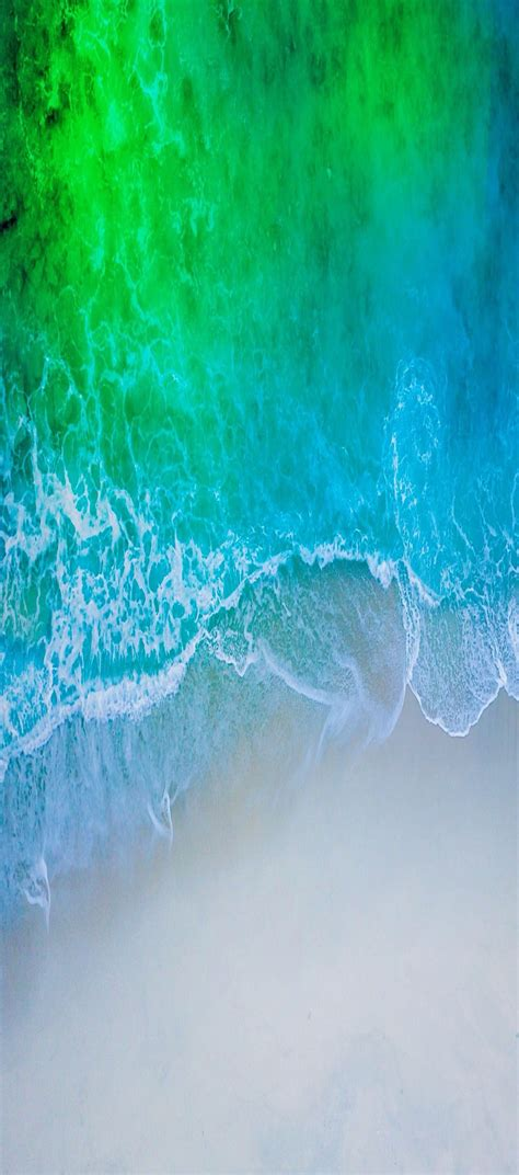 Aqua Blue Wallpaper Iphone 11 ios 11 iphone x aqua blue water wave