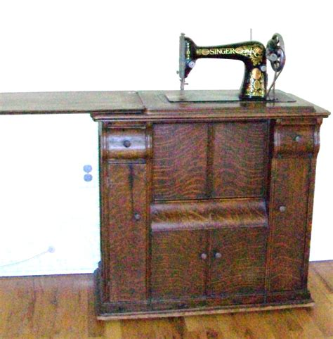 wooden sewing cabinet furniture 1910 working singer sewing machine with original wooden