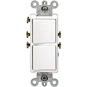 Stacked A Dual Switch Wiring by Single Pole Duplex Switch White Leviton Wall Light