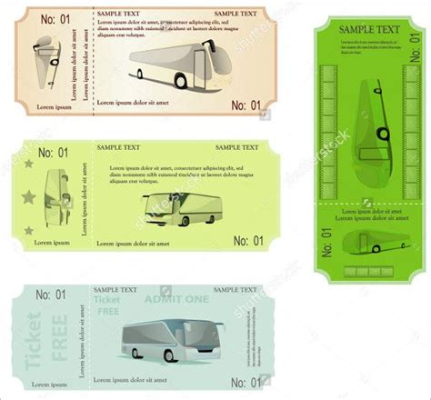 travel ticket templates psd ai word