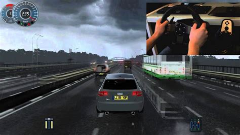 Audi Rs3 + G27 City Car Driving Simulator Fast Driven On