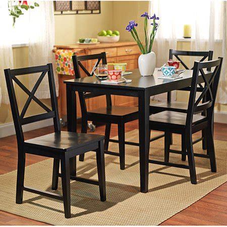 Walmart Dining Room Sets  Virginia 5 Dining Set Black