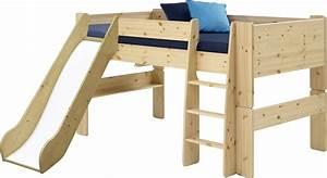 Ein Oder Zwei Kinder : muffy halbhochbett mit rutsche wenn der platz knapp ist oder zwei kinder sich ein zimmer teilen ~ Frokenaadalensverden.com Haus und Dekorationen