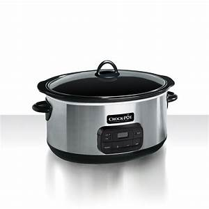 Crock-Pot® 8.0-Quart Slow Cooker,Programmable, Stainless ...  Quart